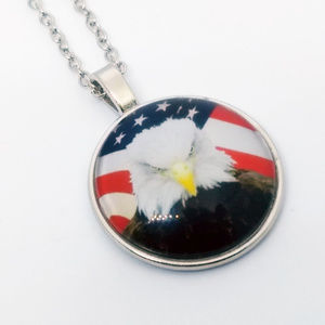 Jewelry - USA EAGLE NECKLACE - America Freedom Flag Pendant